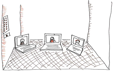 Lifts and laptops – The problem with virtual meetings